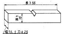 図10 サブサイズ試験片の厚さ、幅、長さ